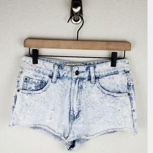 Zara Trafaluc acid wash shorts